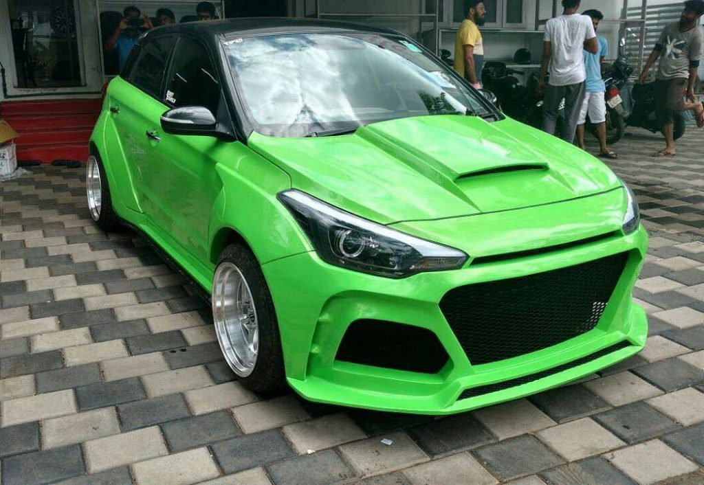 Hyundai Elite i20 Modified Green Body Kits